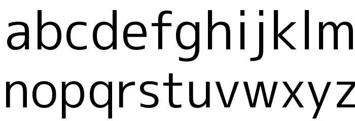M+ 1c regular फ़ॉन्ट लोअरकेस