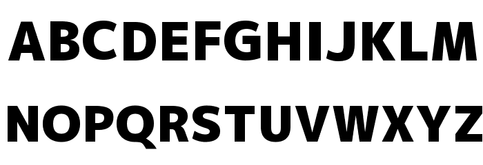 M+ 2p black Font UPPERCASE