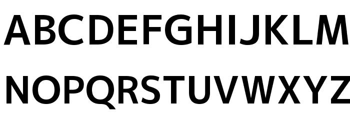 M+ 2p bold Font UPPERCASE