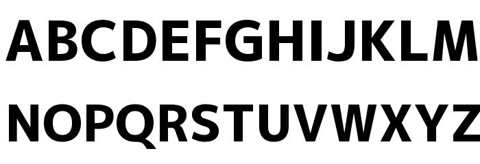 M+ 2p heavy Font UPPERCASE