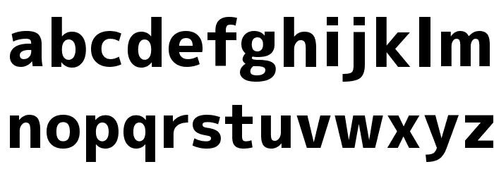 M+ 2p heavy Font LOWERCASE