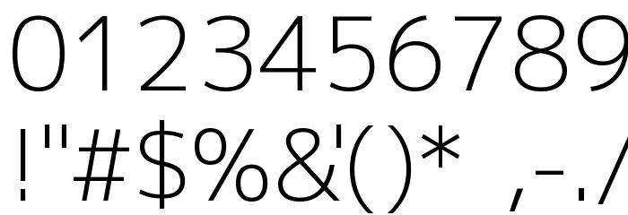 M+ 2p light Font OTHER CHARS