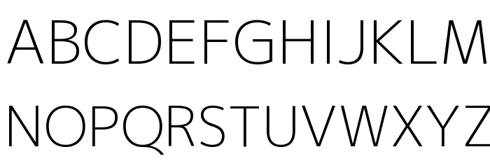 M+ 2p light Font UPPERCASE