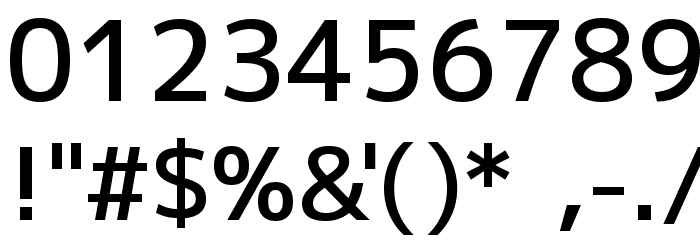 M+ 2p medium Font OTHER CHARS