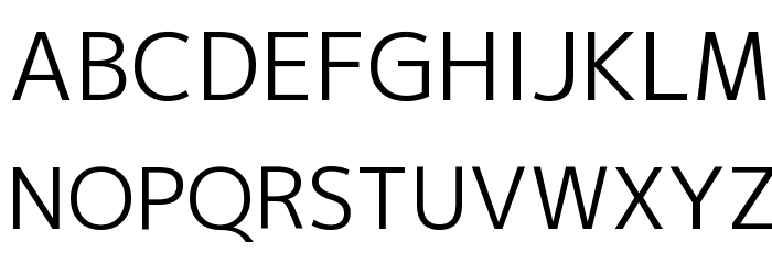 M+ 2p regular Font UPPERCASE