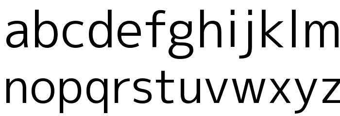M+ 2p regular Font LOWERCASE