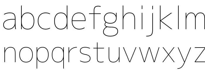 M+ 2p thin Font LOWERCASE