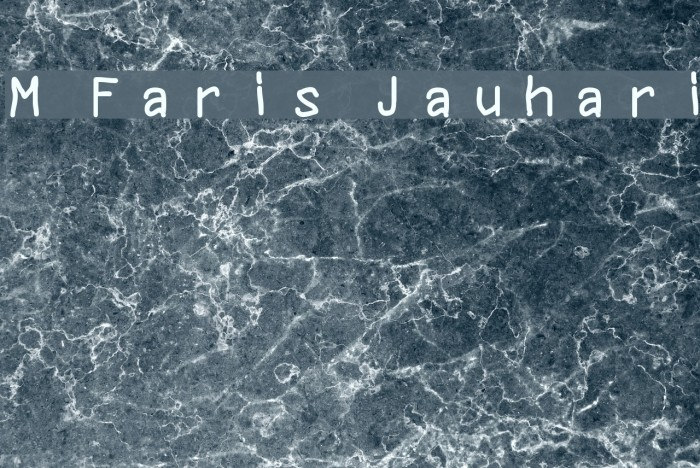 M Faris Jauhari Font examples