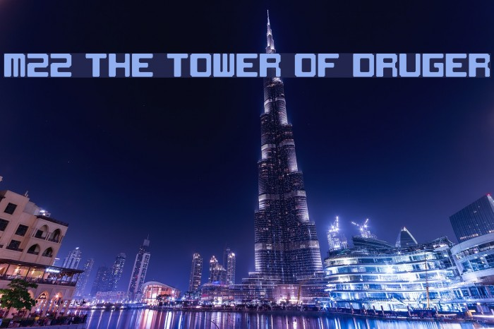 M22_THE TOWER OF DRUGER Font examples