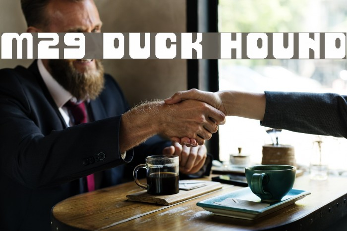 M29_DUCK HOUND Font examples
