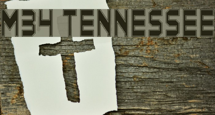 M34_TENNESSEE Font examples