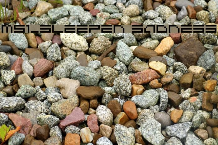 M51_SLEEPEN SADNESS Fuentes examples