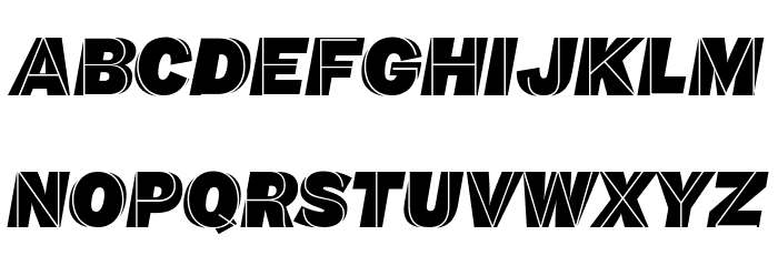 M.F. Plexus Italic फ़ॉन्ट अपरकेस