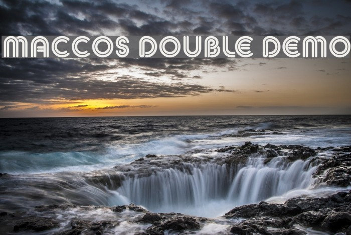 MACCOS DOUBLE Demo Font examples