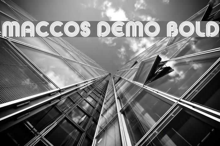 MACCOS Demo Bold Шрифта examples
