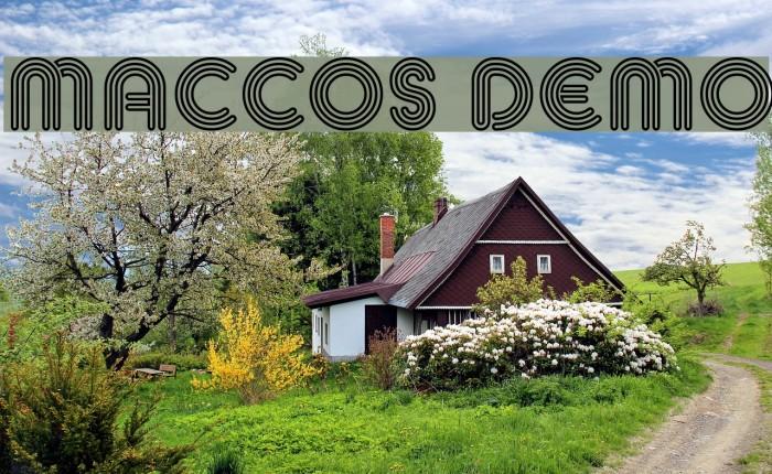 MACCOS Demo Font examples