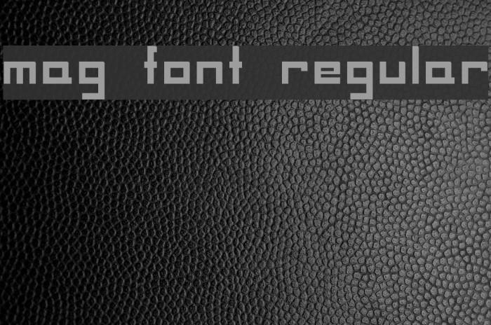 MAG Font Regular Шрифта examples