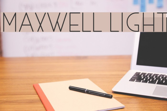 MAXWELL LIGHT Polices examples