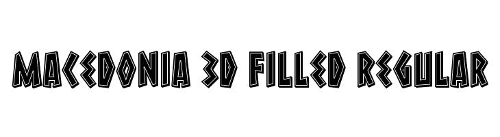Macedonia 3D Filled Regular Font