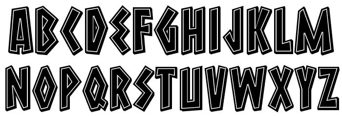 Macedonia 3D Filled Regular Font UPPERCASE