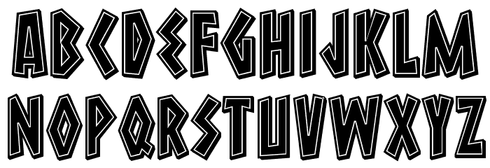 Macedonia 3D Filled Regular Font LOWERCASE