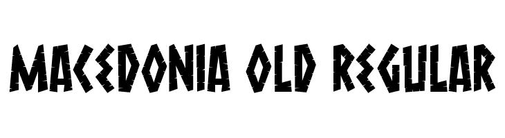 Macedonia Old Regular Font