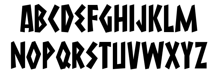 Macedonia Regular Font UPPERCASE