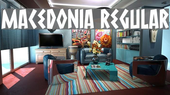 Macedonia Regular Font examples