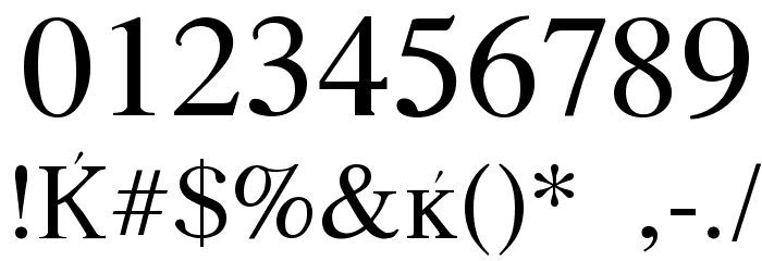 Macedonian Font OTHER CHARS