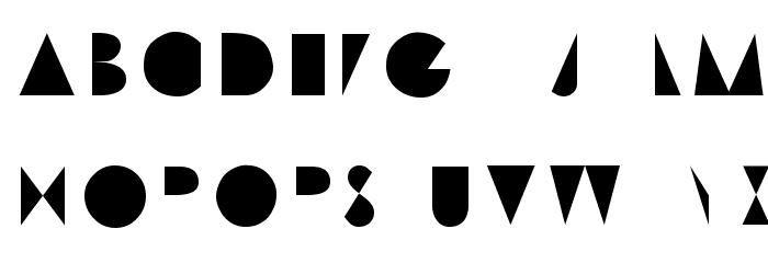 Machine Tool Gothic Font UPPERCASE