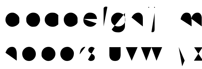 Machine Tool Gothic Font LOWERCASE