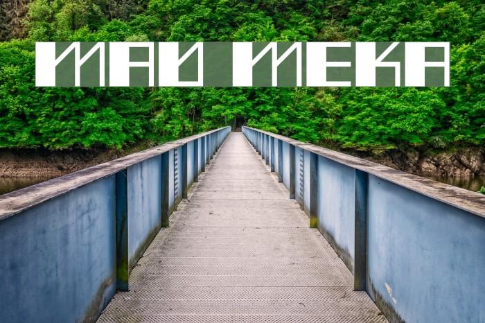 Mad Meka फ़ॉन्ट examples
