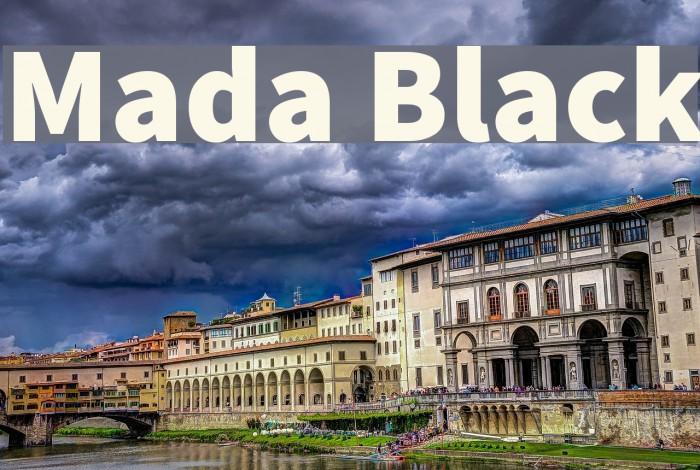 Mada Black Font examples