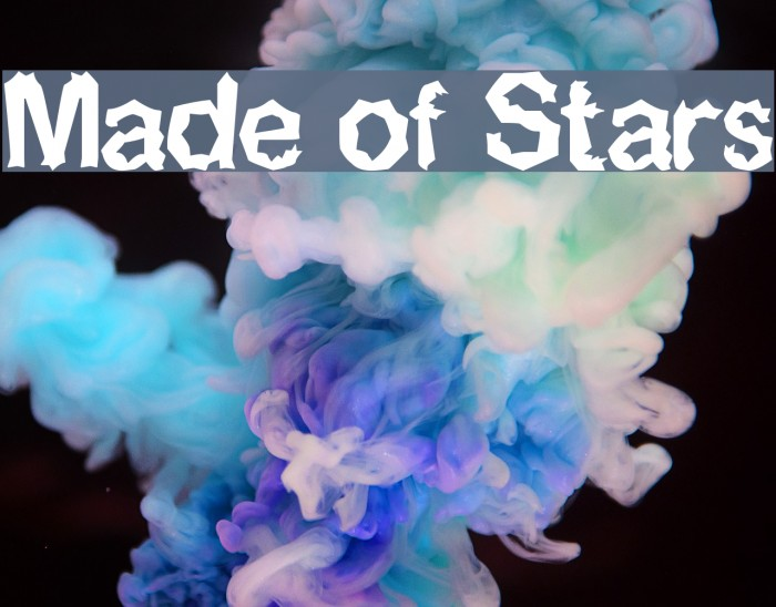 Made of Stars Шрифта examples