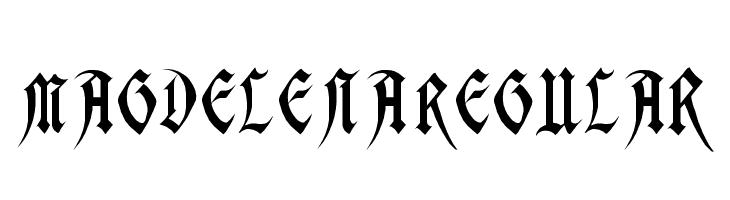 Magdelena Regular  Free Fonts Download