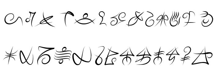 Mage Script Italic Fonte MAIÚSCULAS