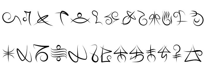 Mage Script Fonte MINÚSCULAS