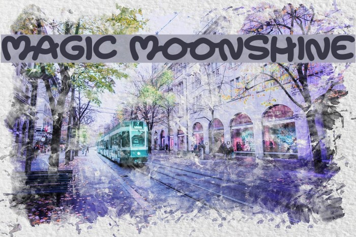 Magic Moonshine Font examples
