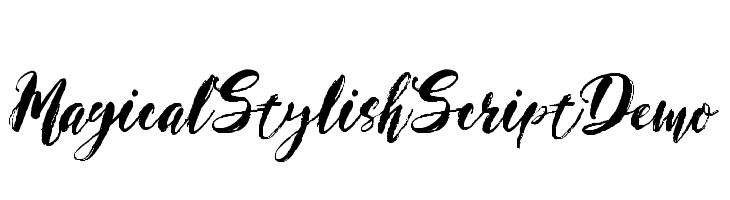 Magical Stylish Script Demo  Descarca Fonturi Gratis