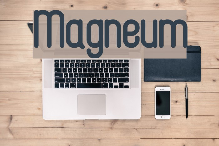 Magneum Шрифта examples