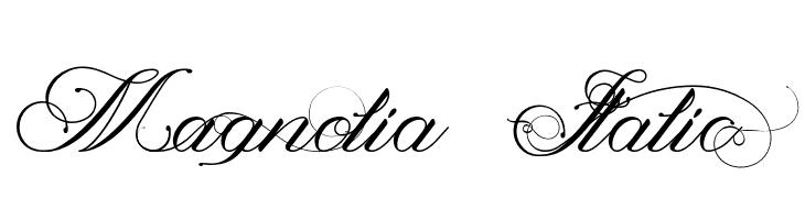Magnolia  Italic  font caratteri gratis