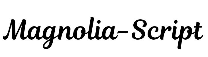 Magnolia-Script  Descarca Fonturi Gratis