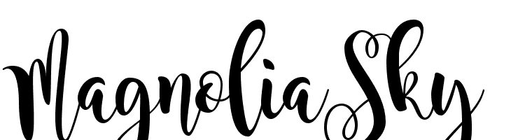 MagnoliaSky  नि: शुल्क फ़ॉन्ट्स डाउनलोड