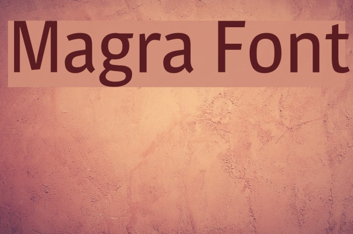 Magra Font examples