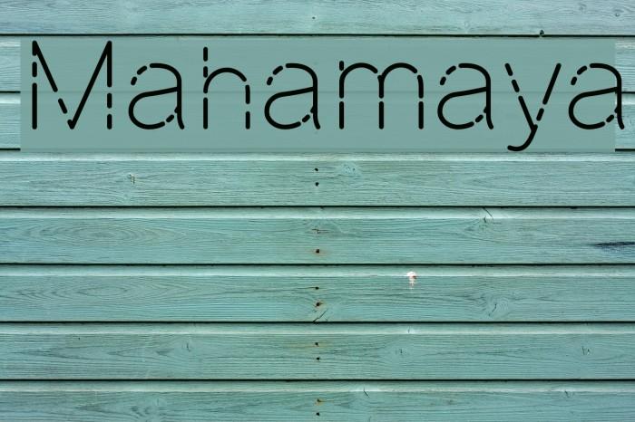Mahamaya Шрифта examples