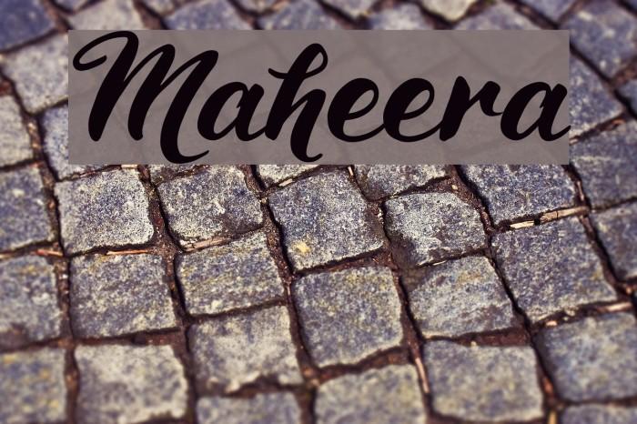 Maheera Schriftart examples