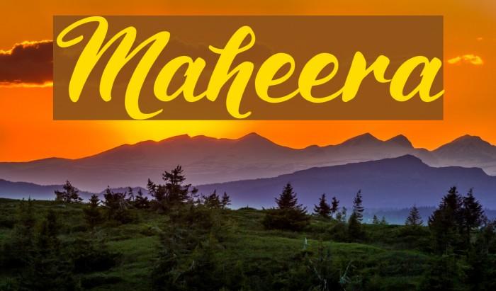 Maheera لخطوط تنزيل examples