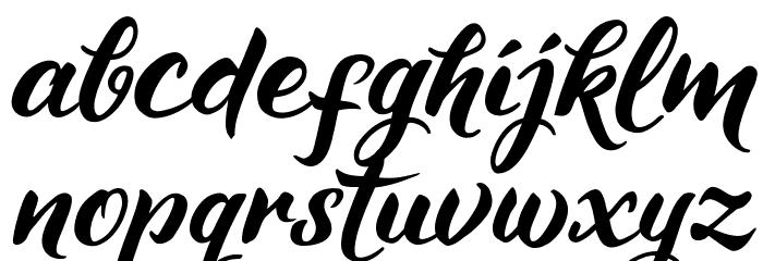 Maheera Schriftart Kleinbuchstaben