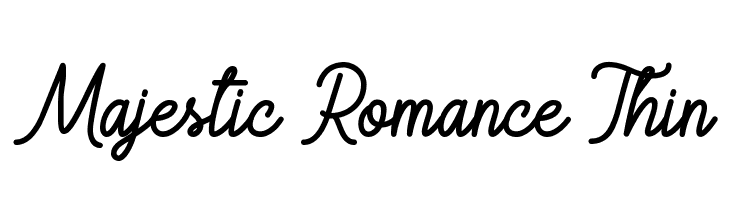 Majestic Romance Thin  Free Fonts Download