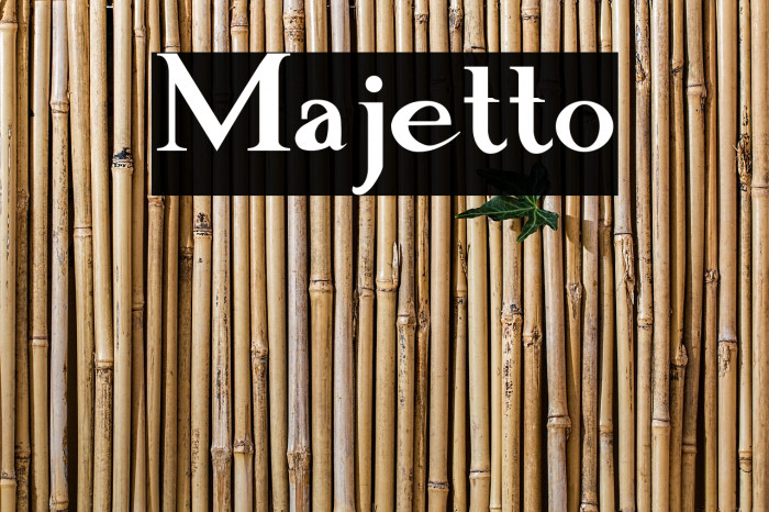 Majetto フォント examples